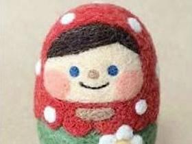 羊毛毡俄罗斯套娃的制作方法