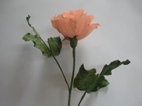 皱纸玫瑰花的制作步骤图解