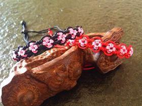 情侣款桃花结手绳的编织方法