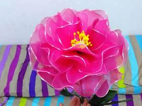 花开富贵-牡丹丝网花的制作方法
