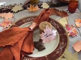漂亮叶子装饰的制作方法