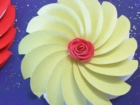简单螺旋纸花的制作方法