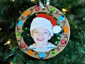 圣诞节照片装饰品的制作方法