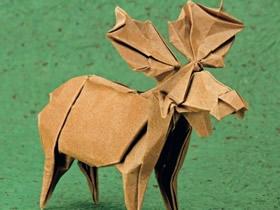 复杂的驼鹿折纸方法图解