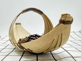 纸藤手工制作小船果盘的方法