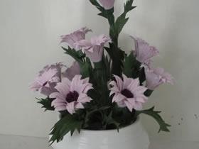 皱纹纸手工制作雏菊的方法