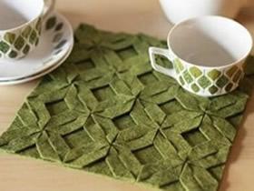 编织风格布艺杯垫的制作方法