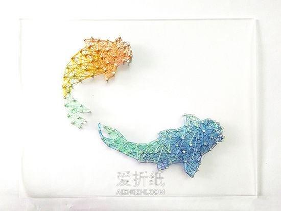 双鱼座绕线画的制作方法- www.aizhezhi.com