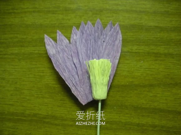 皱纹纸手工制作雏菊的方法- www.aizhezhi.com