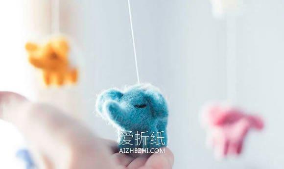 超萌的羊毛毡动物风铃作品- www.aizhezhi.com