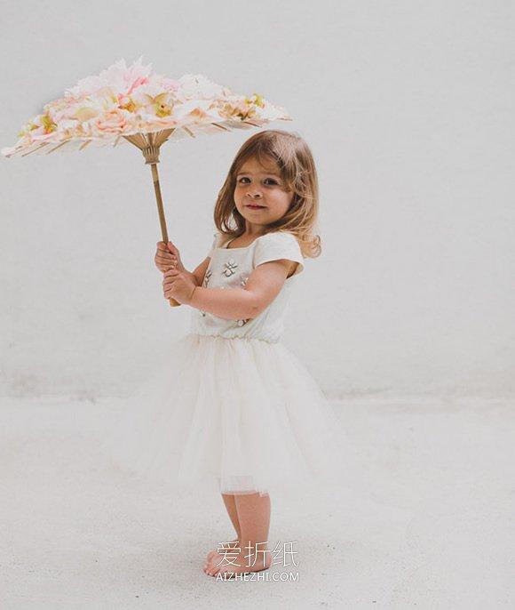 给花童用的婚礼装饰伞制作方法- www.aizhezhi.com