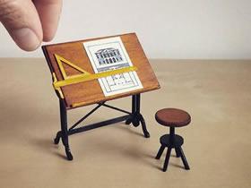 迷你手工家具模型作品图片