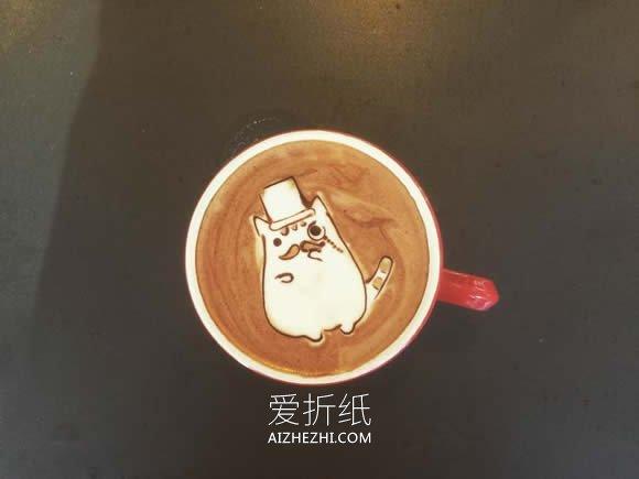 可爱的咖啡拉花作品图片- www.aizhezhi.com