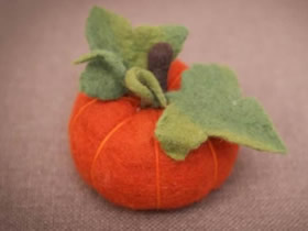 可爱羊毛毡南瓜的制作方法