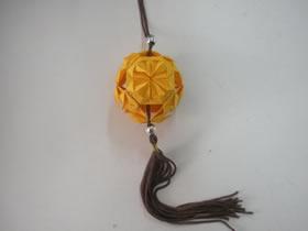 简单花球的折纸方法图解