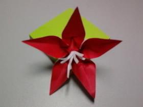 简单五瓣花的折纸方法图解