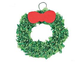 超简单圣诞花环的制作方法