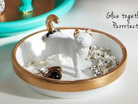 陶土盘改造精美首饰盘的方法