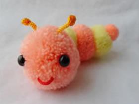毛线球毛毛虫的制作方法