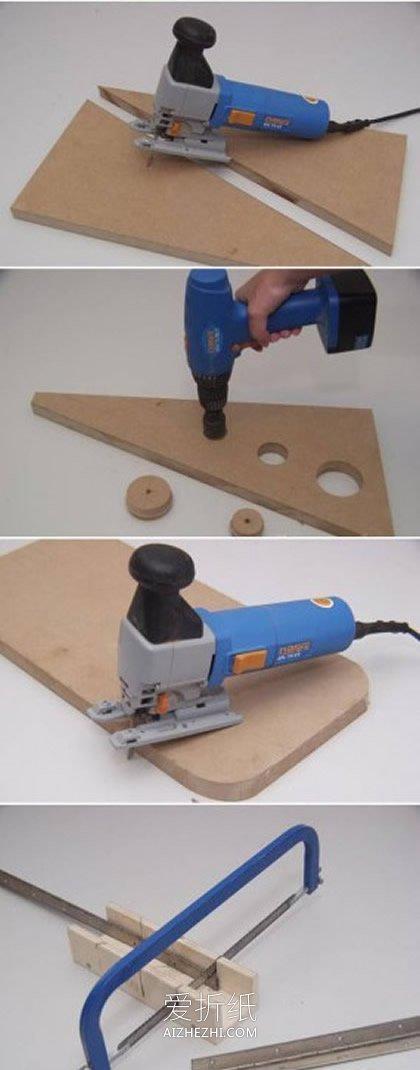 用密度板制作折叠餐桌的方法- www.aizhezhi.com