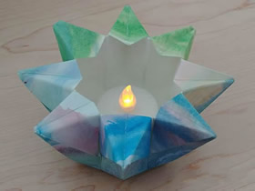 星星灯笼的折法图解