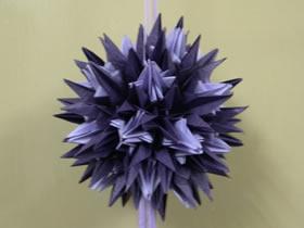 纸花球的折法图解