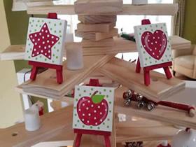 圣诞节画架装饰的制作方法
