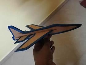 硬纸板手工制作滑翔机的方法