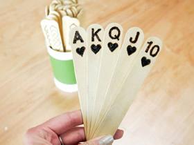 冰棍棒扑克牌的制作方法