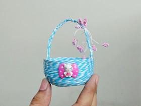 用纸线做小篮子的方法