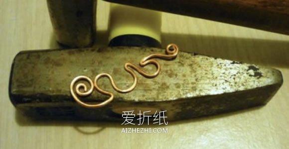自制复古风绕线耳坠的方法- www.aizhezhi.com