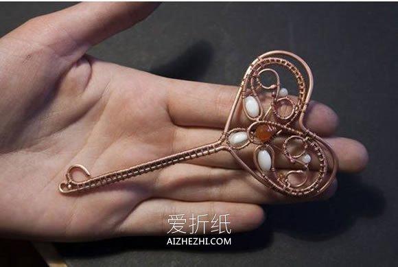 金属丝制作钥匙吊坠的方法- www.aizhezhi.com