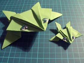 简单折纸青蛙的方法