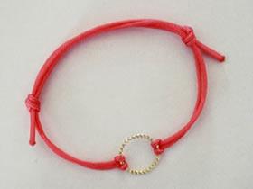 超简单红绳手链的编法图解