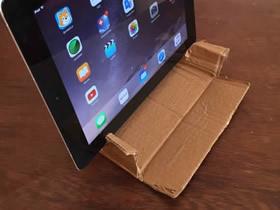 用废纸箱做iPad平板支架的方法