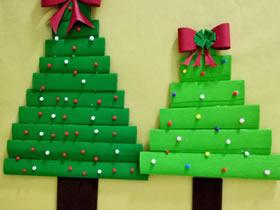 用瓦楞纸做圣诞树的方法