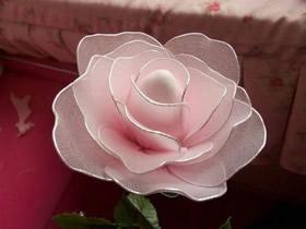 丝网玫瑰花制作图解