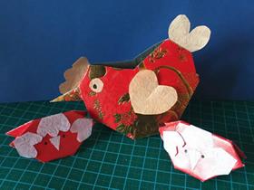 用新年红包做大公鸡的方法图解