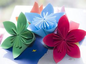 折纸樱花的方法图解