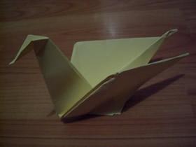 简单折纸鸟的方法图解