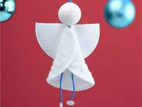 用化妆棉制作天使挂饰的方法