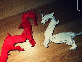折纸古代龙的方法详细图解