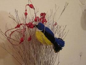 立体毛线小鸟的制作方法