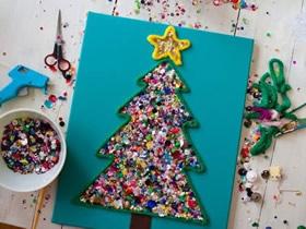 漂亮圣诞树粘贴画的制作方法