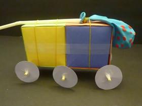 折纸盒子制作空气动力学汽车的方法