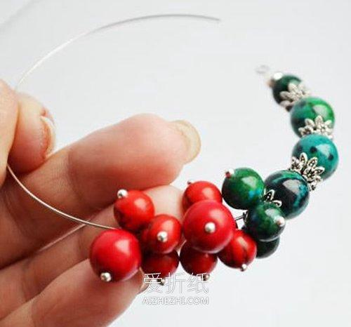 秋天风格串珠手链DIY- www.aizhezhi.com