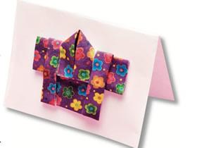 折纸制作和服卡片的方法图解