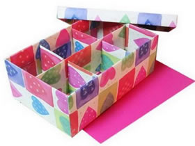 旧鞋盒改造收纳盒的方法
