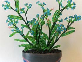 串珠盆栽的制作方法图解