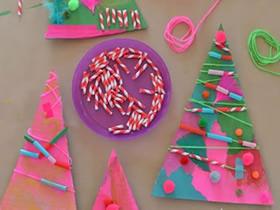 简单废物利用做圣诞树的方法